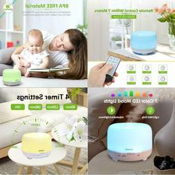 600ML  Large Room Essential Oil Aroma Diffuser Humidifier Mi