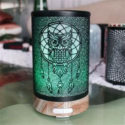 100ml Owl Pattern Electric Air Humidifier 7 Color Light Esse