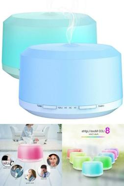 2 Pack 450ML Air Humidifier 8 Colors LED Essential Oil Diffu