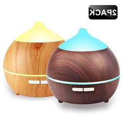 2PACK Oil Diffuser Iextreme 250ml Wood Grain diffuser With 8
