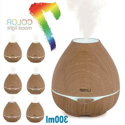 300ml Cool Mist Ultrasonic Humidifier LED Aroma Essential Oi