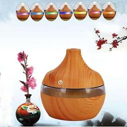 300ML Wood Electric Purifier Mist Aroma Essential Oil Diffus