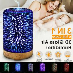 3D LED Essential Oil Aroma Diffuser 100ml Aromatherapy Ultra