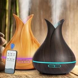 400ml LED Ultrasonic Air Humidifier Aroma Essential Oil Diff