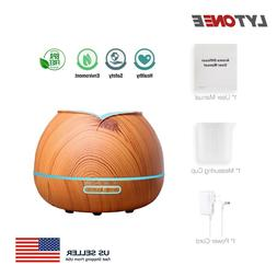 400ml Wood Grain Essential Oil Diffuser Ultrasonice Aromathe