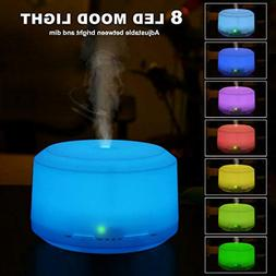 450ML Essential Oil Diffuser with 8 LED Color Changing Lamps