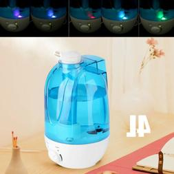 4L Ultrasonic LED Humidifier Cool Mist Maker Air Purifier Es