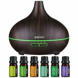 VicTsing 500ml Essential Oil Diffuser with Oils, Aromatherap
