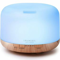 ASAKUKI 500ml Premium, Essential Oil Diffuser, 5 In 1 Ultras