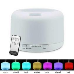 500ml Ultrasonic Aromatherapy Aroma Essential Oil Diffuser Q