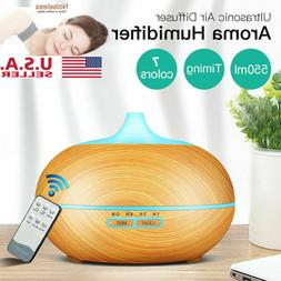 550ml 7 LED Essential Oil Ultrasonic Aroma Diffuser Cool Mis