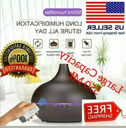 550ml Air Humidifier Purifier Essential Oil Aroma Diffuser A