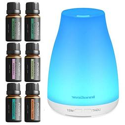 InnoGear Upgraded 150ml Aromatherapy Diffuser and 6 Scents E