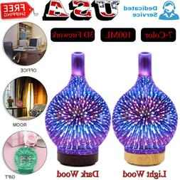7 color 100ml 3d firework glass essential
