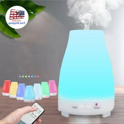 7-Color LED Essential Oil Diffuser Aromatherapy Cool Mist Ul