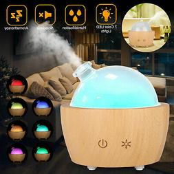 7 LED Aromatherapy Glass Dome Ultrasonic Essential Oil Diffu