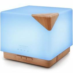 ASAKUKI 700ml Premium, Essential Oil Diffuser, 5 In 1 Ultras