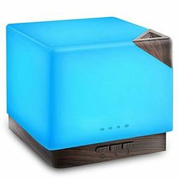 URPOWER 700ml Square Aromatherapy Essential Oil Diffuser Hum
