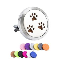 Dog Paw for 3 Essential Oil Vent Clip Pendant Car Aromathera