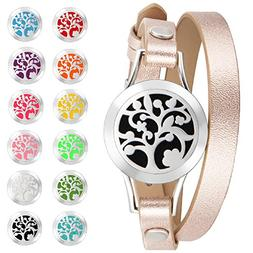 Essential Oil Diffuser Jewelry for Women Aromatherapy Anxiet