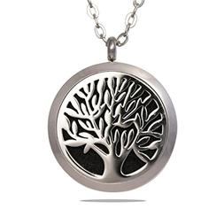 Essential Oil Diffuser Necklace - Tree of Life Stainless Ste