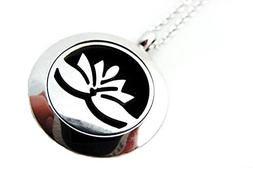Lotus Flower  Magnetic Diffuser Necklace Steel Scentsational