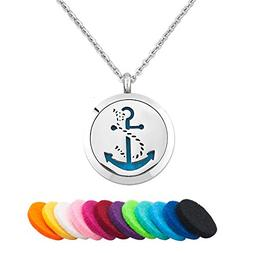 Third Time Charm Anchor Necklace For Essential Oil Diffuser