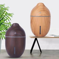 Aroma Essential Oil Diffuser Wood Grain Ultrasonic Aromather