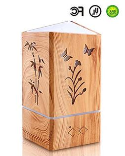 Aromatherapy Essential oil Diffuser With Wood Grain Ultrason