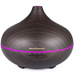 InnoGear 500ml Aromatherapy Essential Oil Diffuser Wood Grai