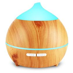 Aromatherapy Essential Oil Diffuser, Avaspot 250ml Wood Grai