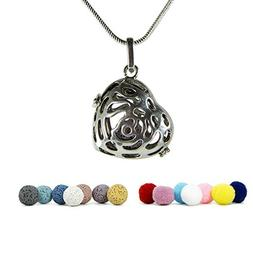 "KroO Aromatherapy Essential Oil Diffuser Necklace, 24"" Sterl"