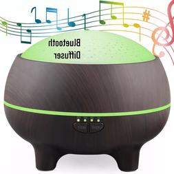 Aromatherapy Essential Oil Diffuser w Blue Tooth-Ultrasonic