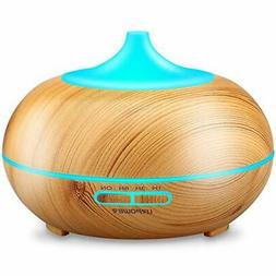 URPOWER Aromatherapy Essential Oil Diffuser 300ml Wood Grain