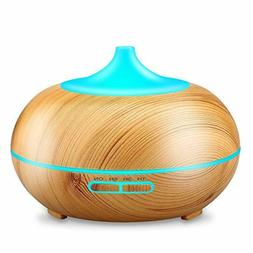 Aromatherapy Essential Oil Diffuser, URPOWER 300ml Wood Grai