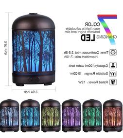 Aromatherapy Essential Oil Diffuser Humidifier Ultrasonic Qu