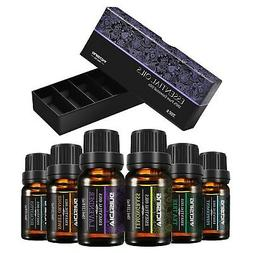 VicTsing Set of 6 Aromatherapy Essential Oils, 100% Pure The