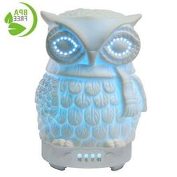 COOSA Ceramic Owl Essential Oil Diffuser Cool Mist Humidifie