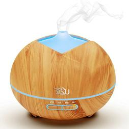 U2C Essential Oil Diffuser, 【450ml Aroma Diffuser Wood Gra