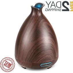Diffuser Essential Oil 130ml Wood Grain Ultrasonic Aromather