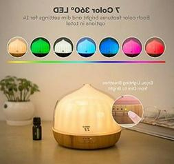 TaoTronics Diffuser for Essential Oils 500mL, 14 Colors with