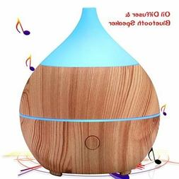 PriBuy Aromatherapy Essential Oil Diffuser with Bluetooth Sp
