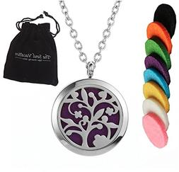 Essential Oil Diffuser Necklace Aromatherapy Pendant, Velvet