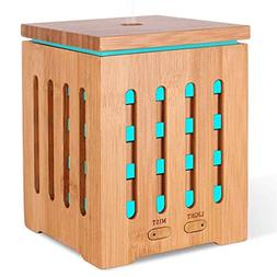 Homecao Essential Oil Diffuser Real Bamboo Aromatherapy Diff