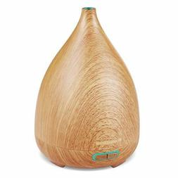 200ml Essential Oil Diffuser Wood Grain Vase-Shaped Ultrason