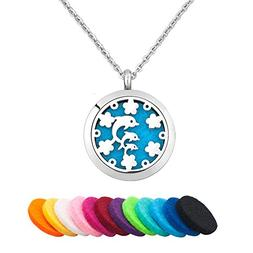 Third Time Charm Dolphin Necklace For Essential Oil Diffuser