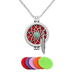 Third Time Charm Dream Catcher Necklace For Essential Oil Di