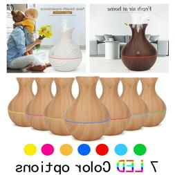Electric Air Diffuser Aroma Oil Humidifier Night Light Up Ho