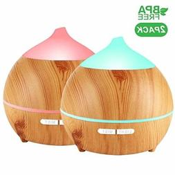 Essential Oil Diffuser, Avaspot 2 PACK 250ml Wood Grain Aro