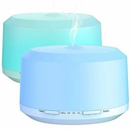 Essential Oil Diffuser 2 Pack, BAXIA TECHNOLOGY 450ml Aromat